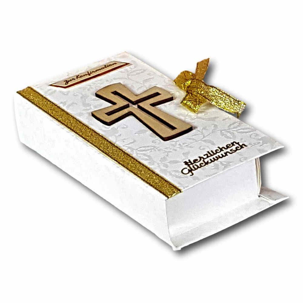 Geldgeschenk Gutschein Konfirmation Buch Gold
