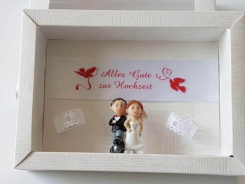 geldgeschenk gutschein zur hochzeit just married rot. Black Bedroom Furniture Sets. Home Design Ideas