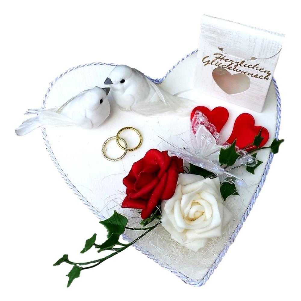 Romantische Verpackung für Geldgeschenke zur Hochzeit schenken