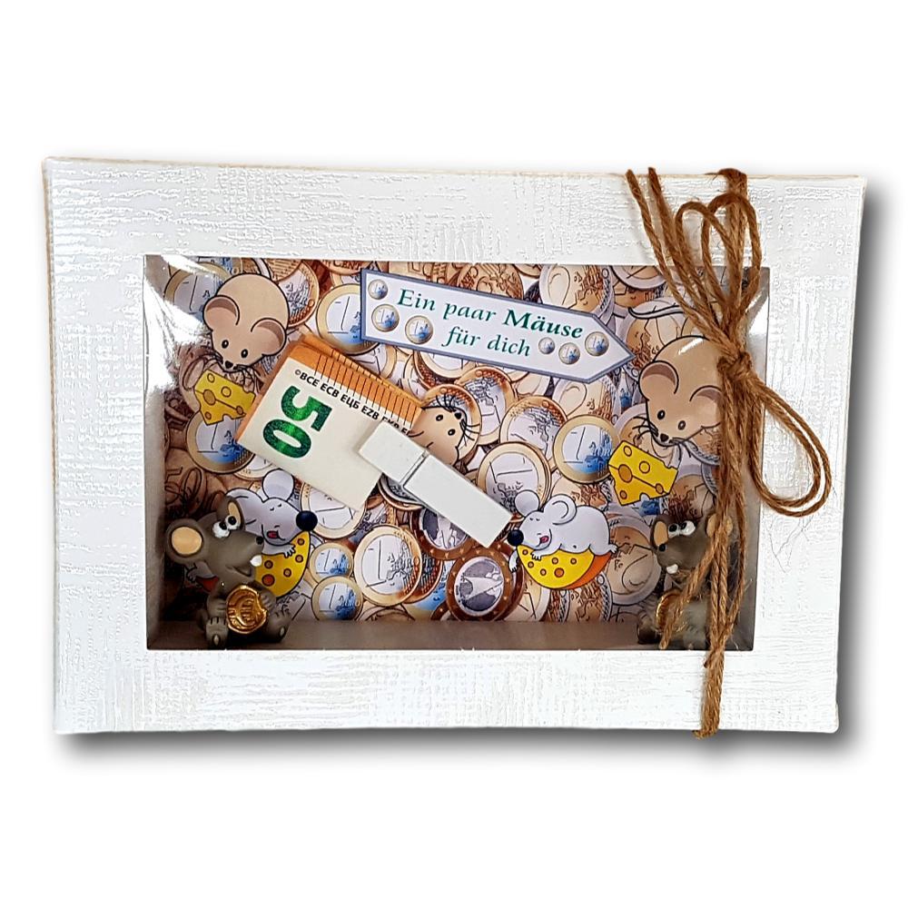 Geldgeschenk Verpackung Geburtstag Geschenk Mäuse geld